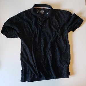 Other - Men's black speckled polo
